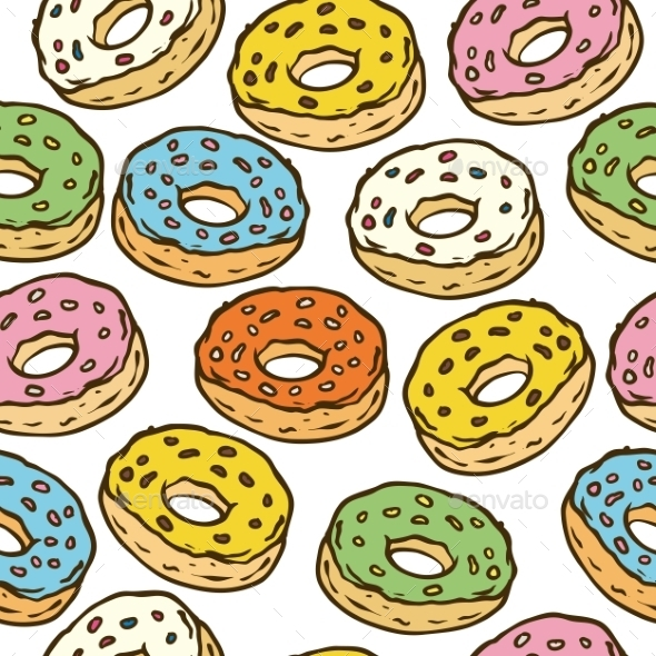 GraphicRiver Donuts Seamles Pattern 10866128