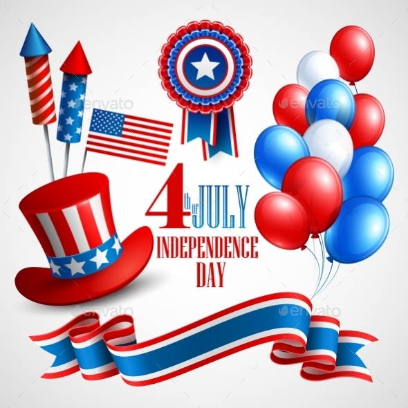 GraphicRiver Independence Day Elements 10866151