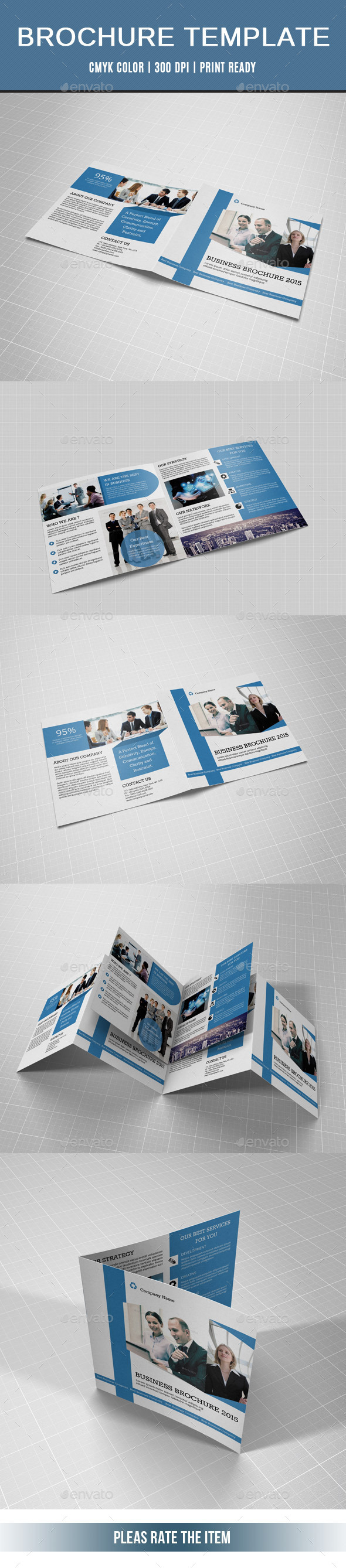 GraphicRiver Corporate Square Bifold Brochure-V15 10866326