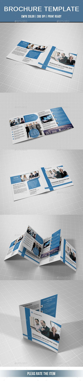 GraphicRiver Corporate Square Bifold Brochure-V15 10866326