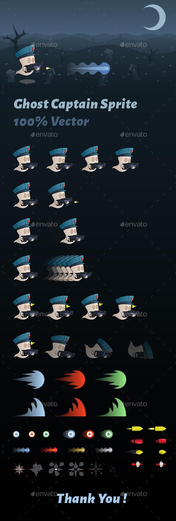 GraphicRiver Ghost Captain Sprite 10866678