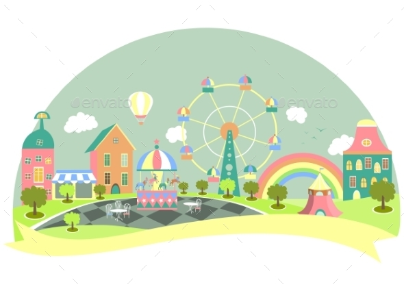 GraphicRiver Amusement Park 10866679