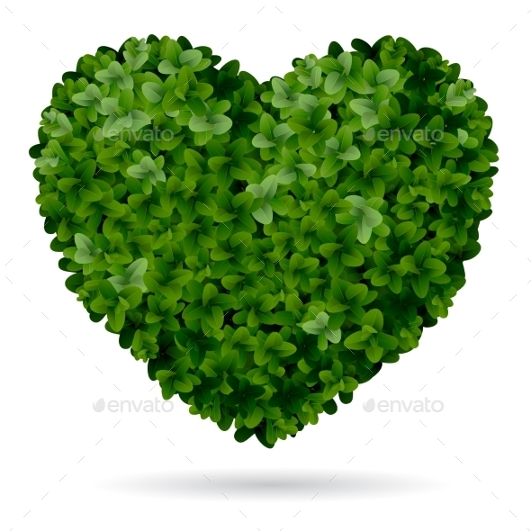 GraphicRiver Foliage Heart 10866895