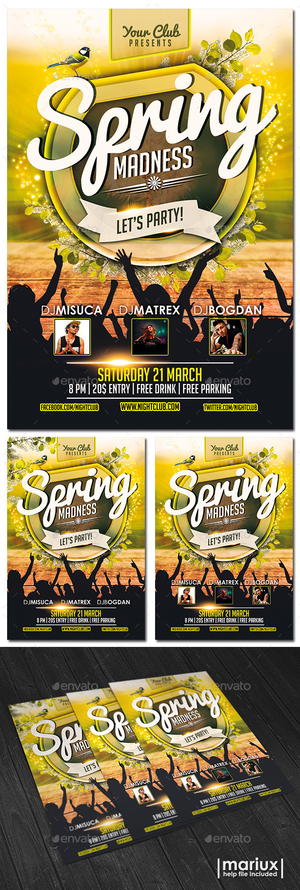 GraphicRiver Spring Party Flyer 10867380