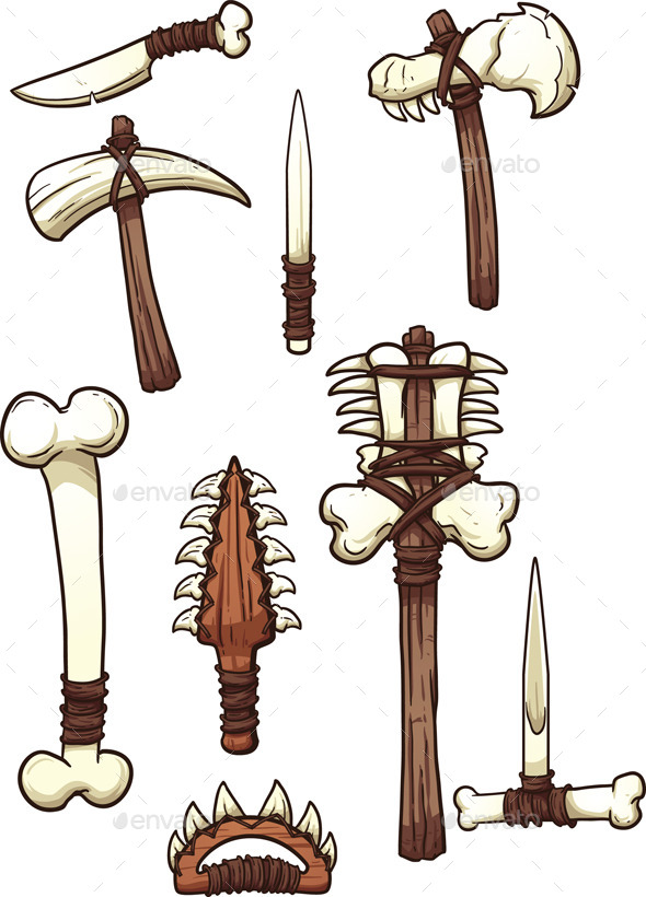 GraphicRiver Bone Weapons 10868041