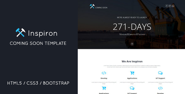 ThemeForest Inspiron Coming Soon Under Construction Template 10782139