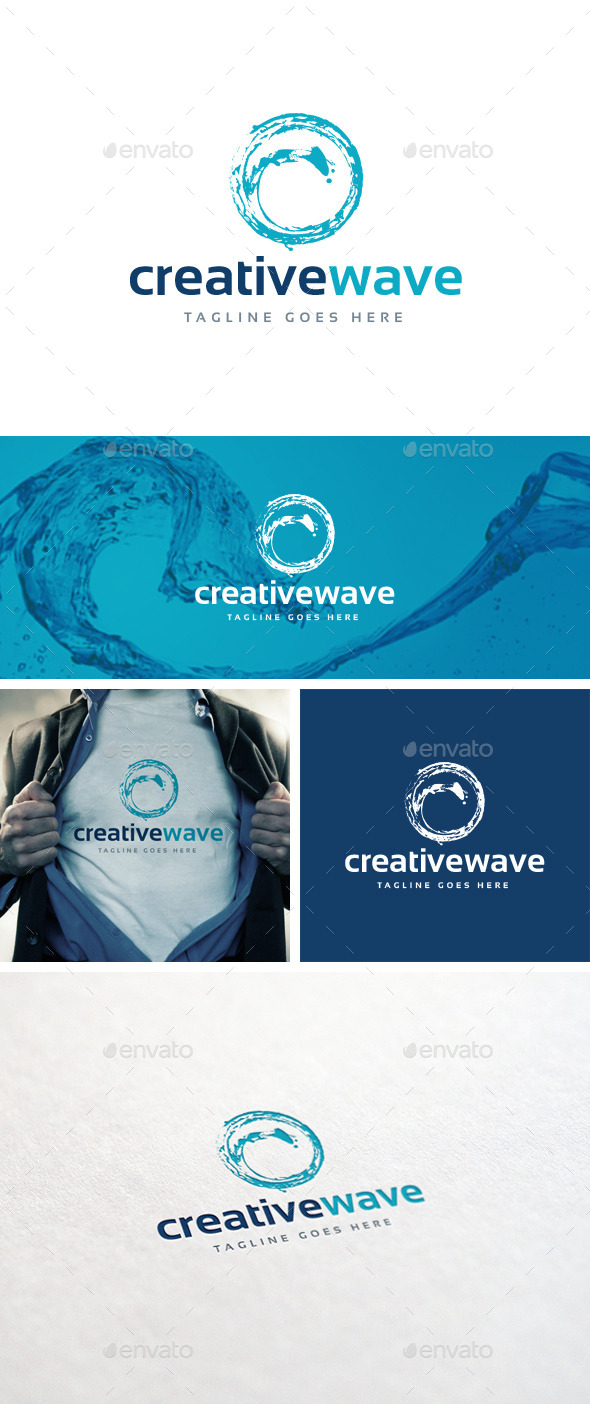 GraphicRiver Creative Wave Logo Template 10868469