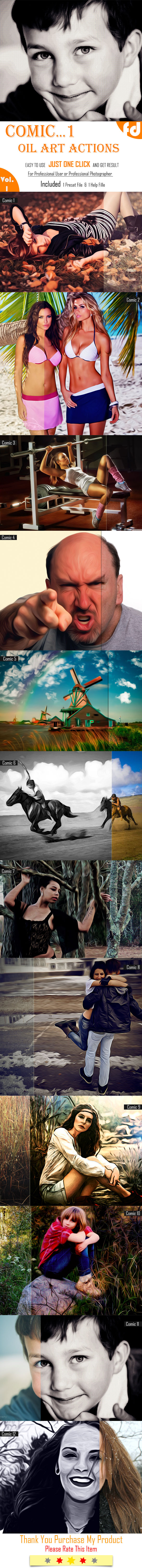 GraphicRiver Comic Oil Art Actions 10868512