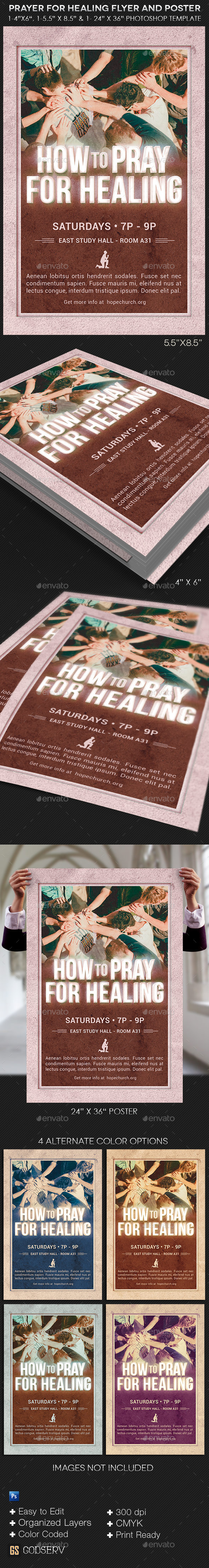 GraphicRiver Prayer for Healing Flyer and Poster Template 10868570