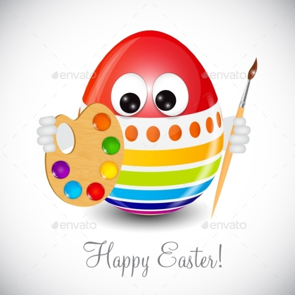 GraphicRiver Easter Egg Painting 10868615