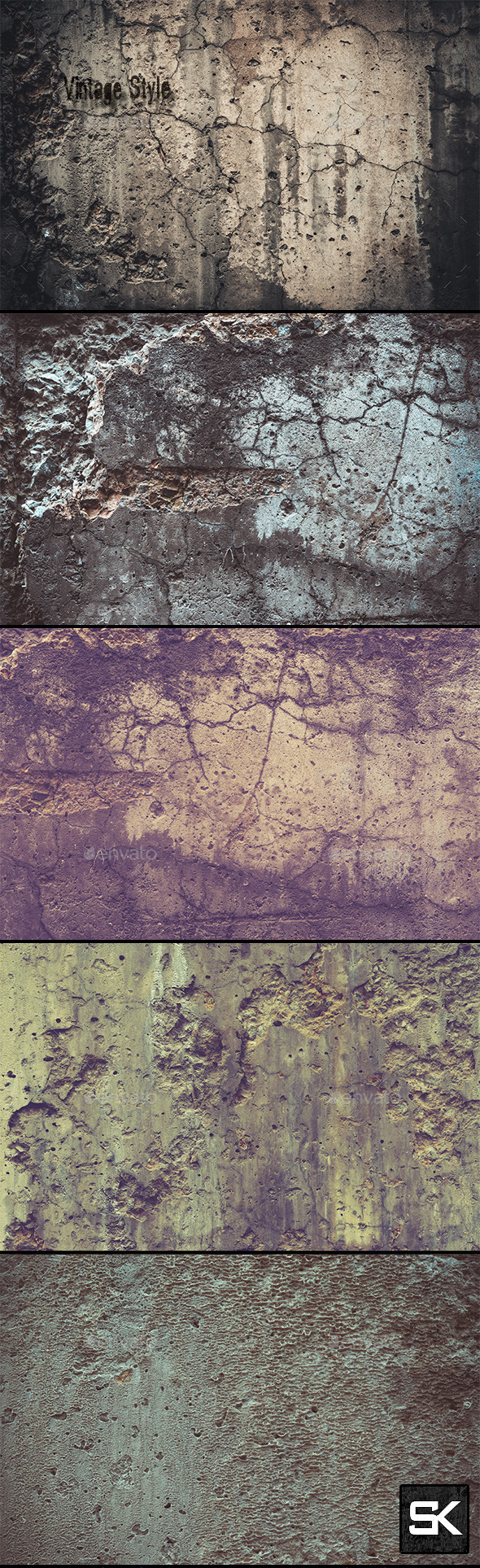 GraphicRiver Wall Vintage Style 10868927