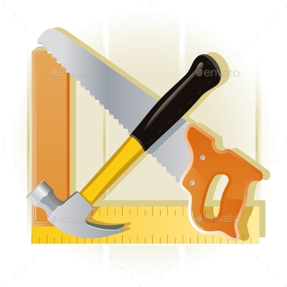 GraphicRiver Carpentry Tools 10868938