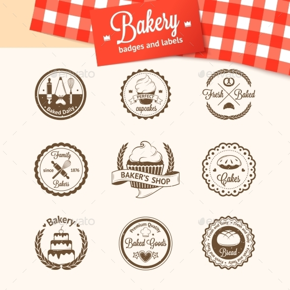 GraphicRiver Bakery Badges 10869016