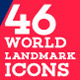 World Landmark Icons Bundle - Vol. 1,2,3,4  - GraphicRiver Item for Sale