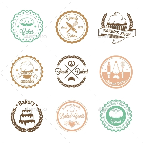 GraphicRiver Bakery Badges 10869027
