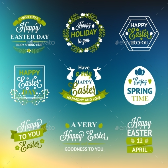 GraphicRiver Easter Labels 10869080