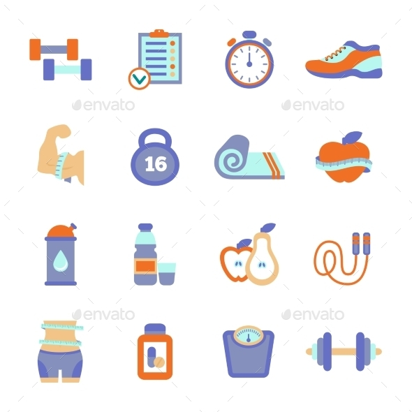 GraphicRiver Fitness Icons 10869127