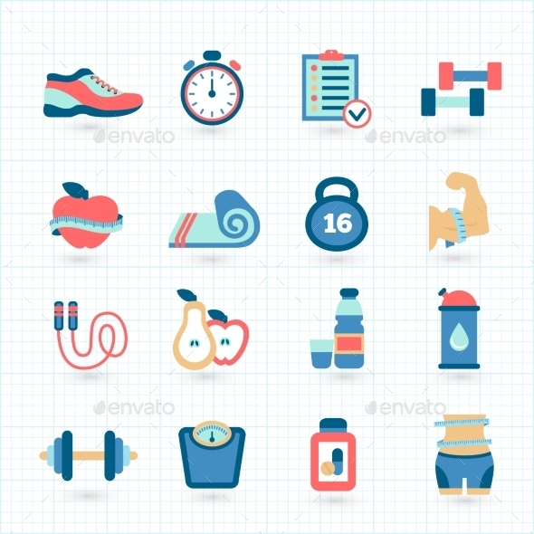 GraphicRiver Fitness Icons 10869129