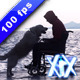 Man In Wheelchair With Dog - VideoHive Item for Sale