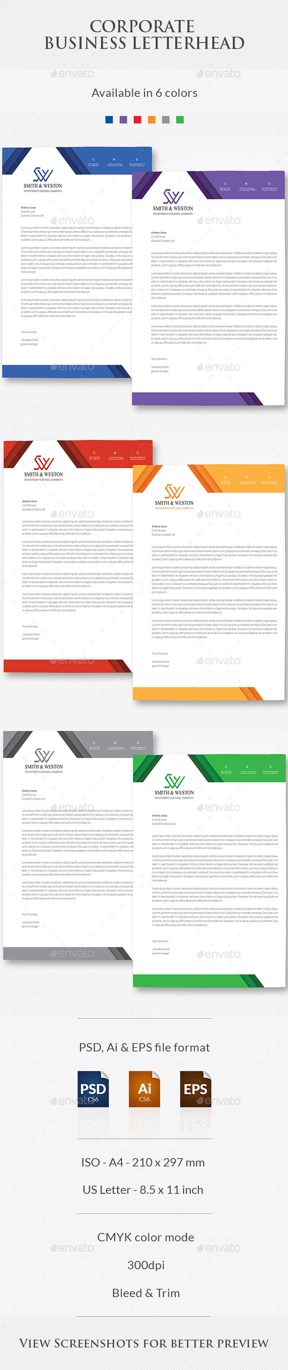 GraphicRiver Corporate Business Letterhead 10869319