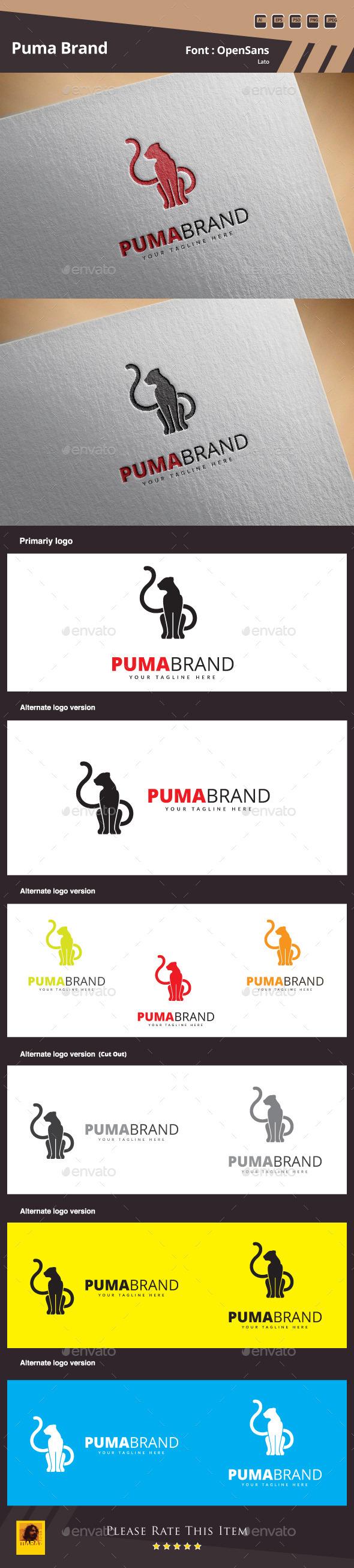 GraphicRiver Puma Brand Logo Template 10869494
