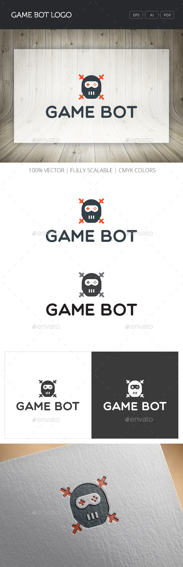 GraphicRiver Game Bot Logo 10869672
