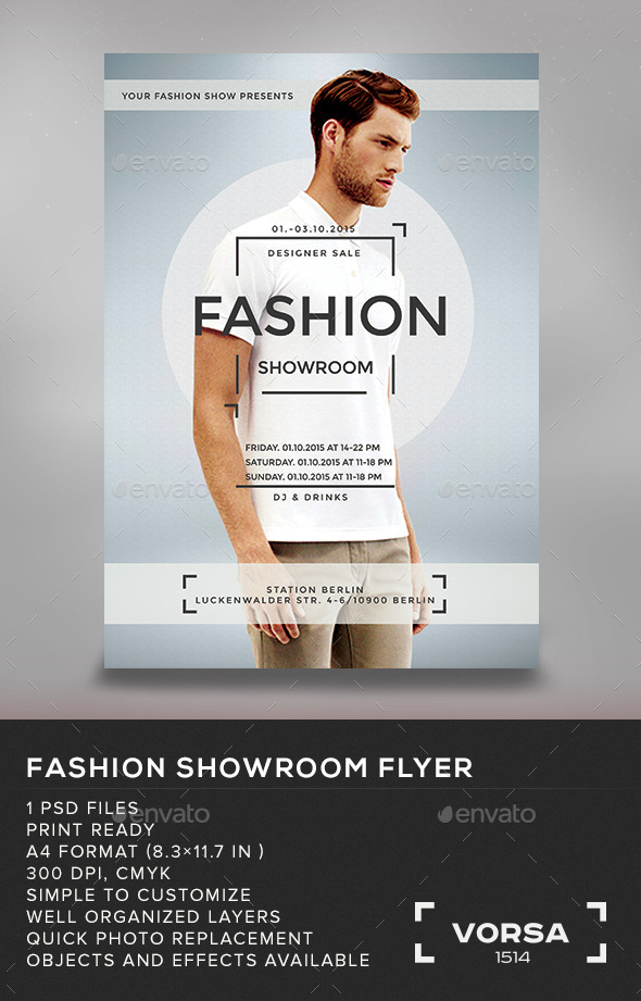GraphicRiver Fashion Showroom Flyer 10869740