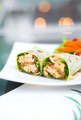 steamed salmon and salad wrap - PhotoDune Item for Sale