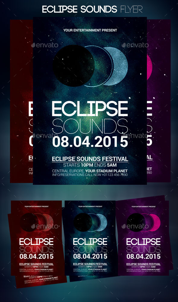 GraphicRiver Eclipse Sounds Flyer 10869812