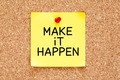Make it Happen Sticky Note - PhotoDune Item for Sale