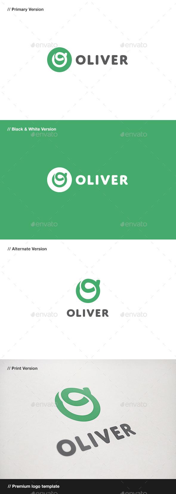 GraphicRiver Oliver Letter O Logo 10869843