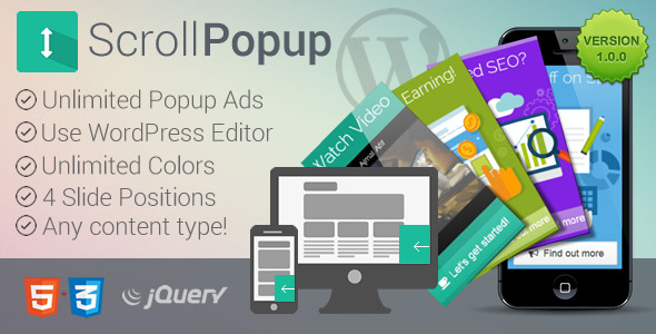 CodeCanyon WordPress Scroll Popups Plugin 10869934