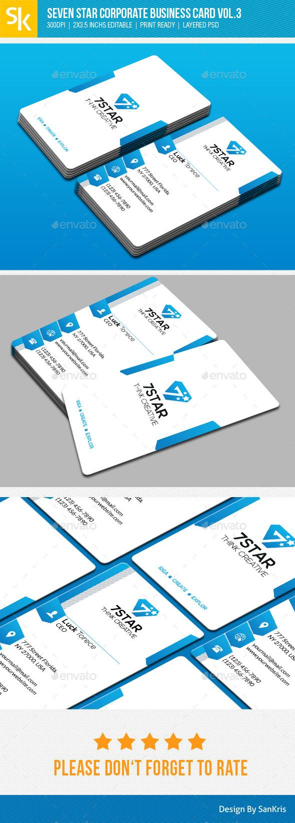 GraphicRiver Seven Star Corporate Business Card Vol.3 10870037