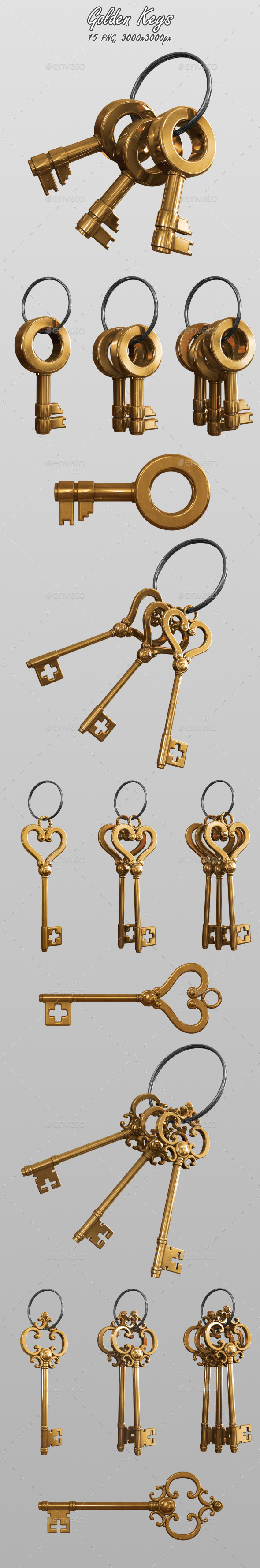 GraphicRiver Golden Keys 10870339
