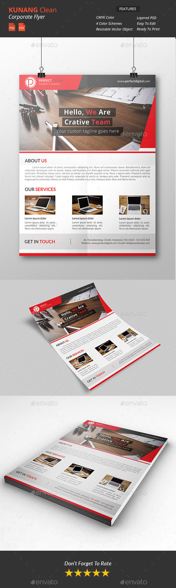 GraphicRiver Kunang corporate flyers 10870464