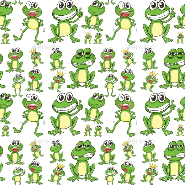 GraphicRiver Seamless Frogs 10870473