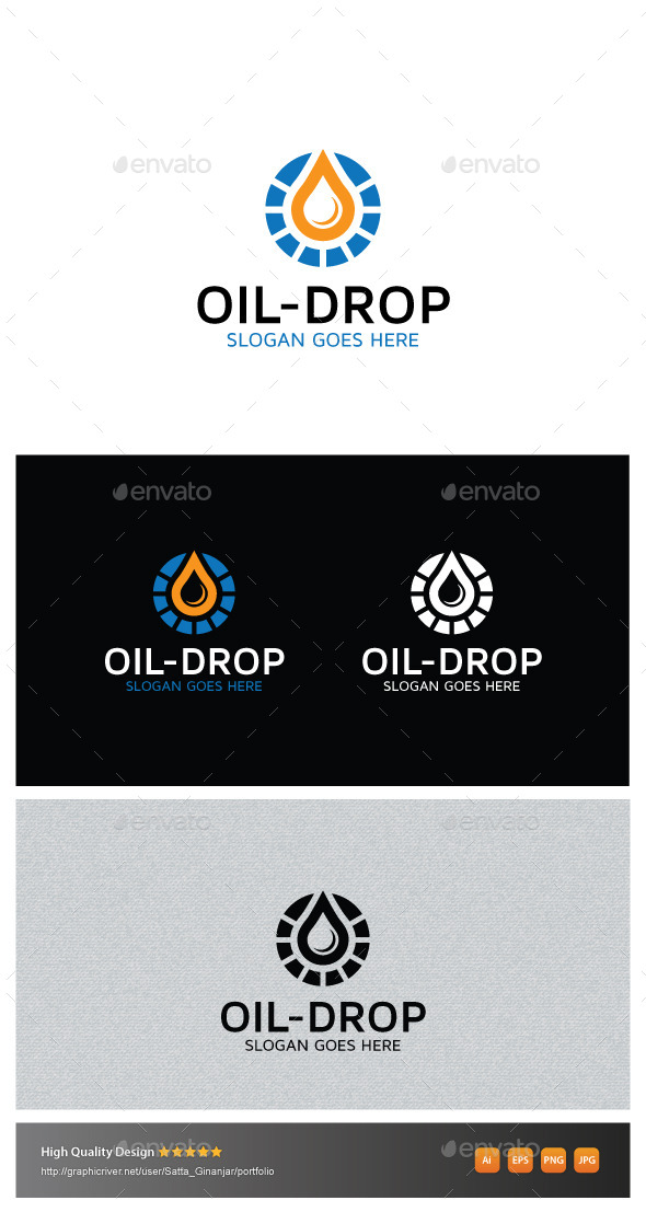 GraphicRiver Oil Drop 10870489