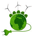 Green planet with trees and wind turbines - PhotoDune Item for Sale