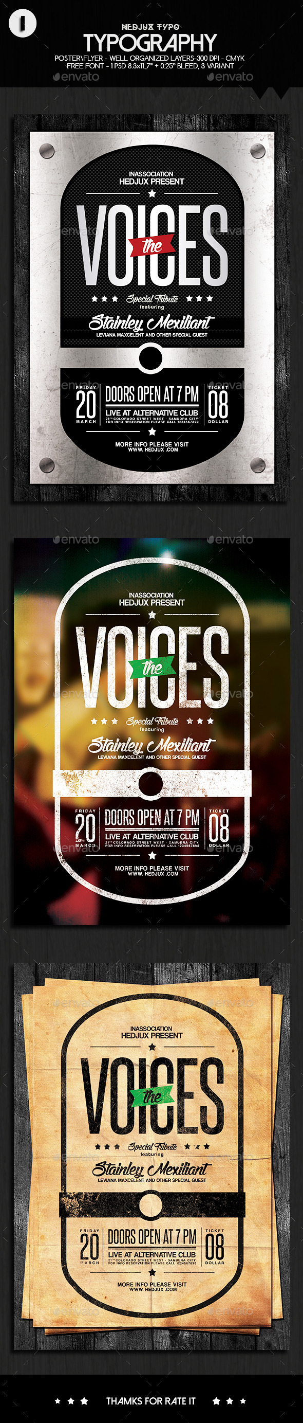 GraphicRiver Typography Voices Flyer 10870697