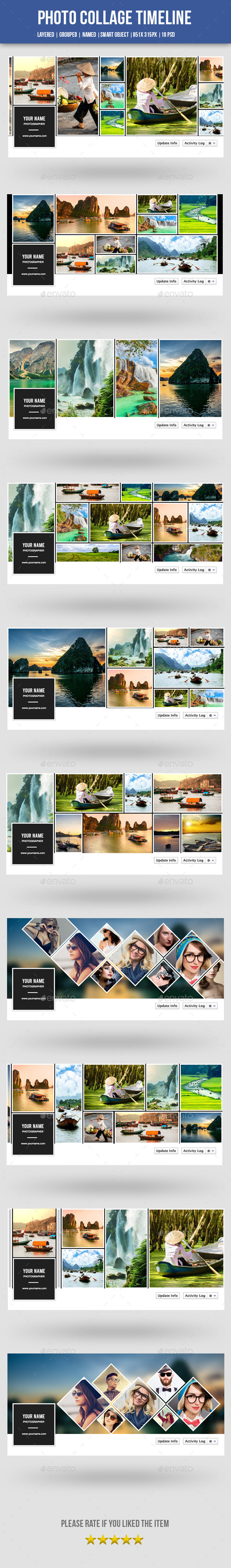 GraphicRiver Photo Collage Facebook Timeline-10 Psd 10870802