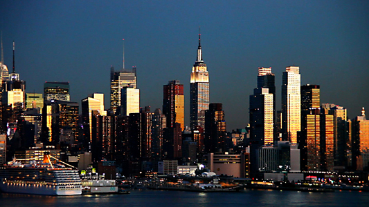 new york city blue nigth full HD