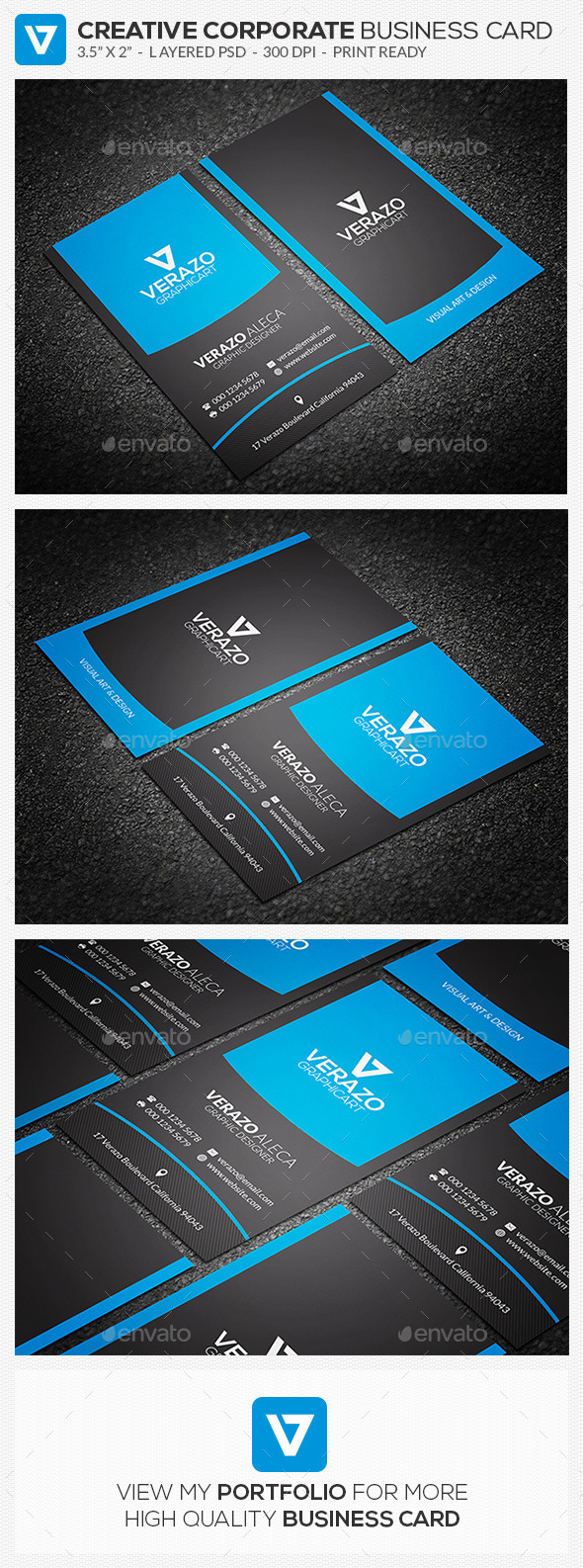GraphicRiver Modern Corporate Business Card 78 10871128
