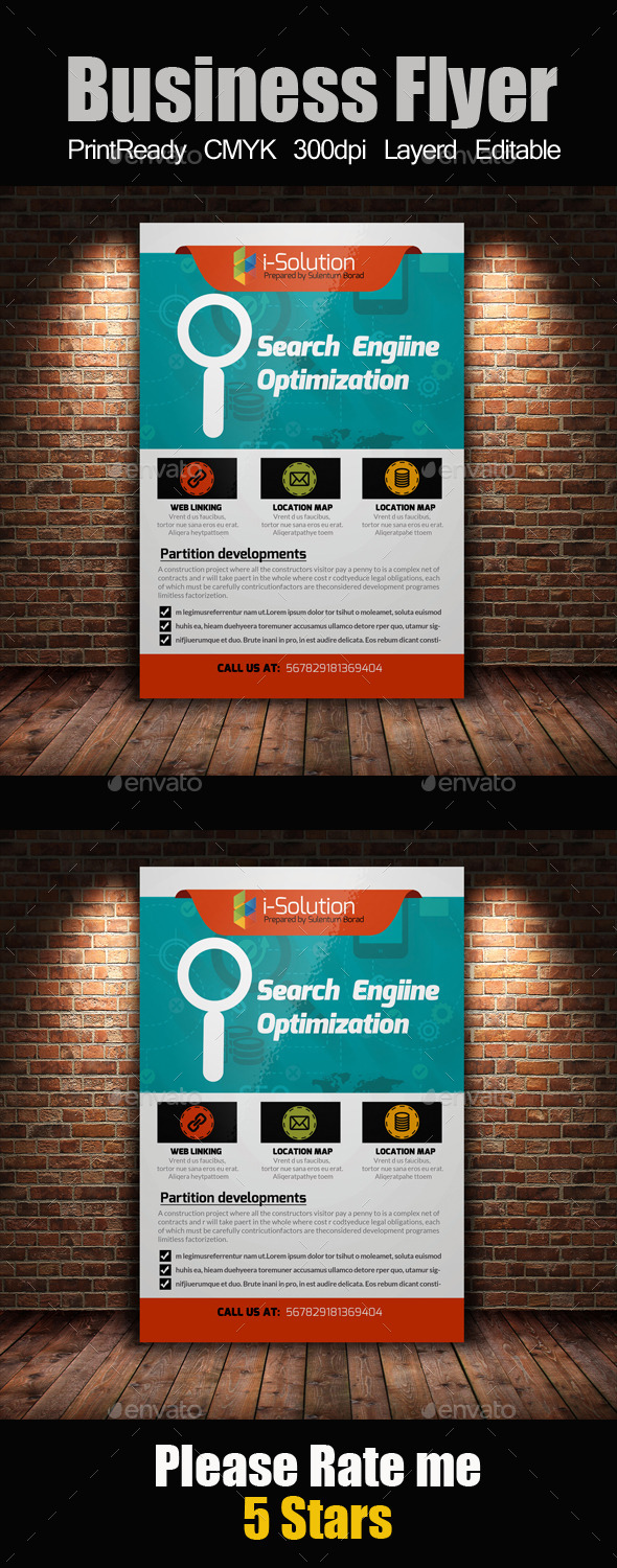 GraphicRiver SEO Flyer Template 10871129