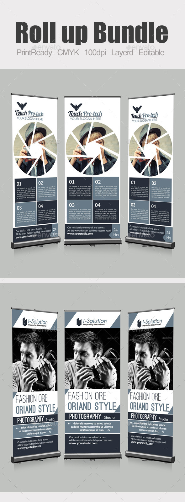 GraphicRiver Photography Roll Up Banners Bundle 10871328