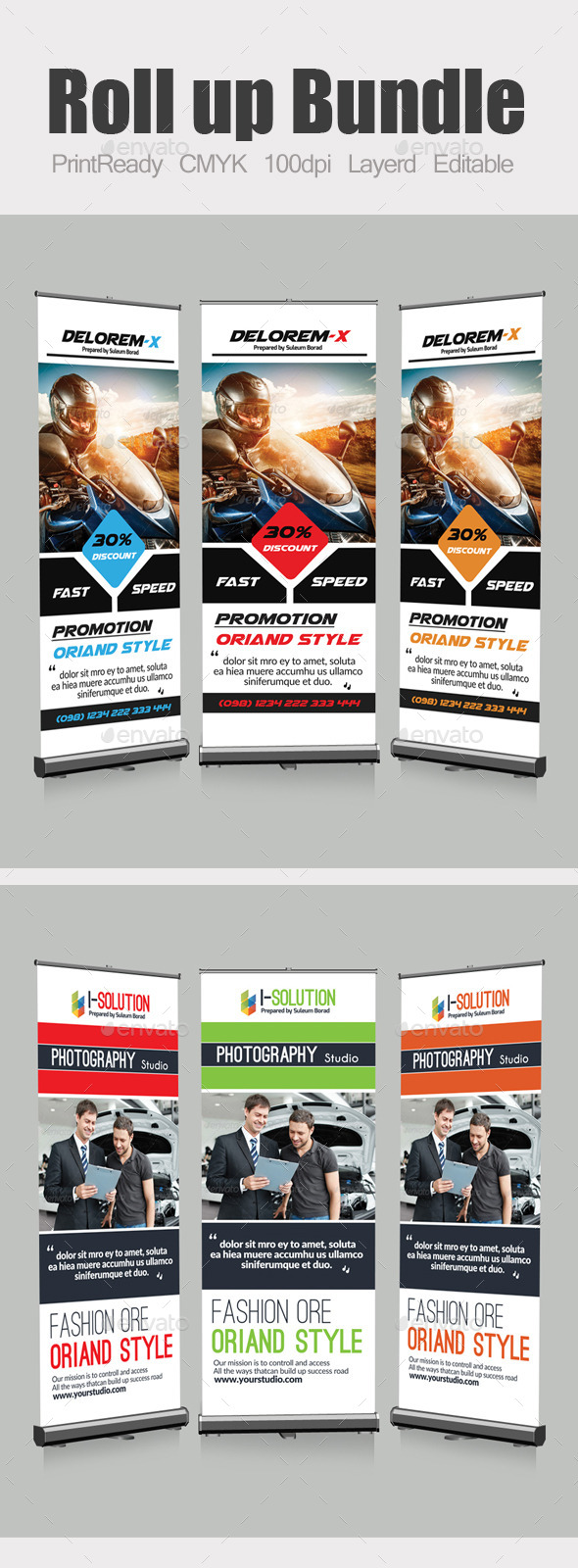 GraphicRiver Roll Up Business Banners Bundle 10871401