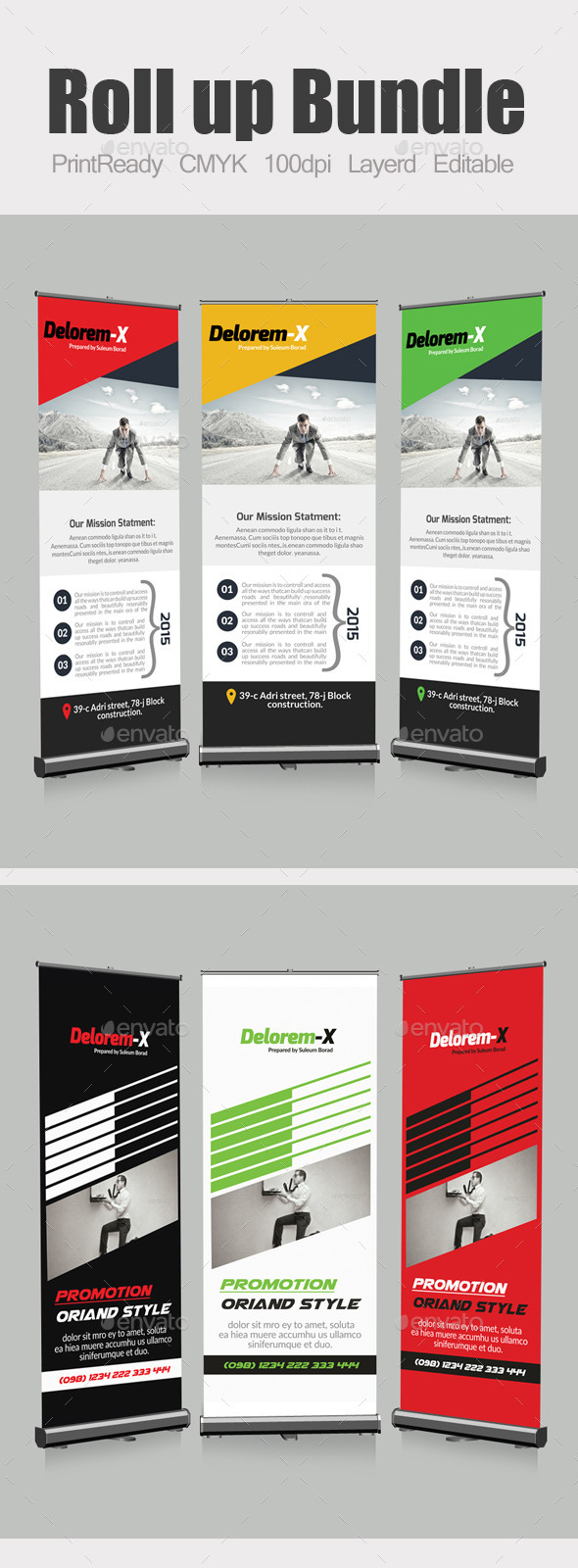 GraphicRiver Roll Up Business Banners Template Bundle 10871430