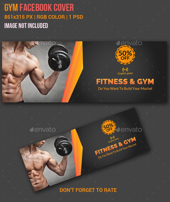 GraphicRiver Gym & Fitness Facebook Timeline Cover 10871447
