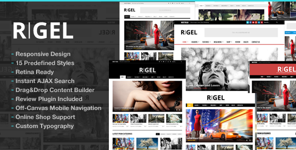 Rigel Responsive Magazine Newspaper Theme - News / Editorial Blog / Magazine