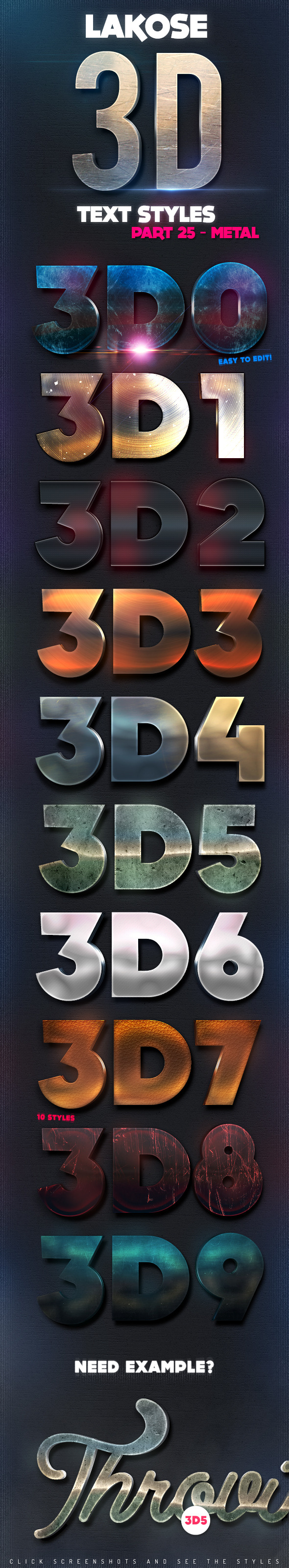 GraphicRiver Lakose 3D Text Styles Part 25 10871963