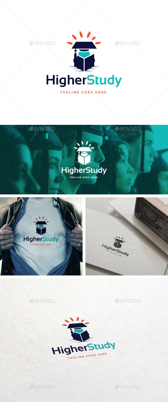 GraphicRiver Higher Study Logo Template 10871989